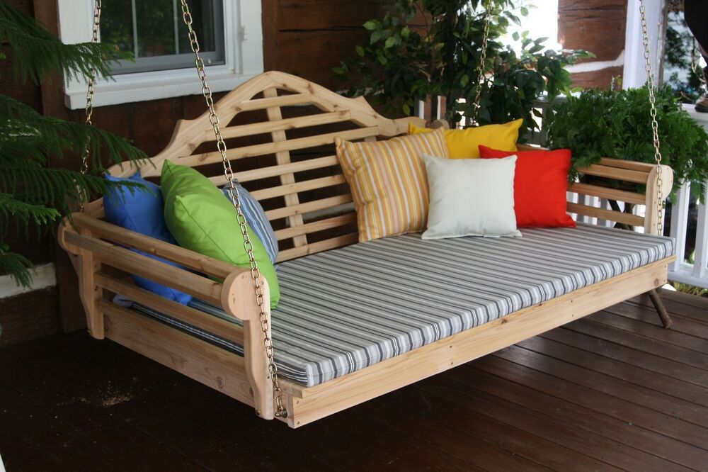 Marlboro 6 Foot Cedar Porch Swing Bed Unfinished Cedar