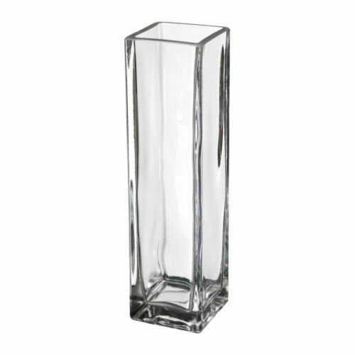 Pc clear tall rectangle glass modern vase wedding table