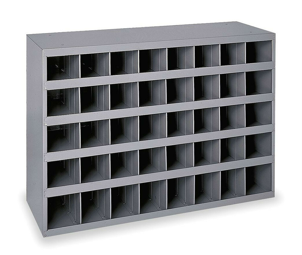 metal storage bins metal 40 compartment slot storage bin cabinet 11076