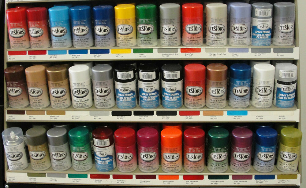 Testors Enamel Custom Colors 3 Oz Spray Paint Can Mix Match Variety Ebay