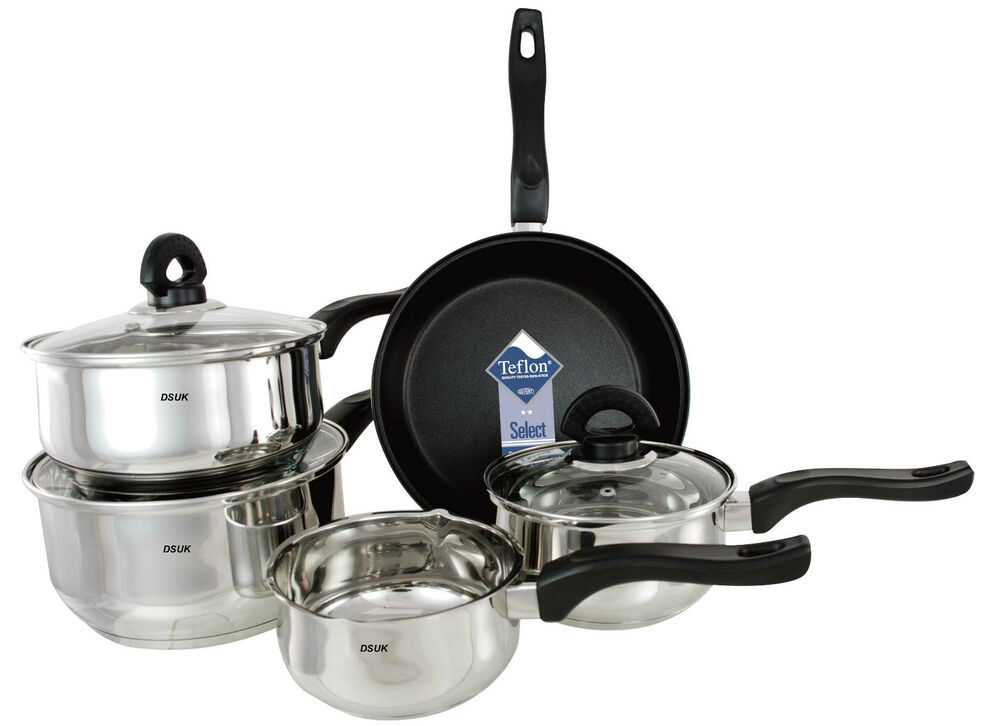 Buckingham Induction Set Of 5 Saucepan Stianlesssteel