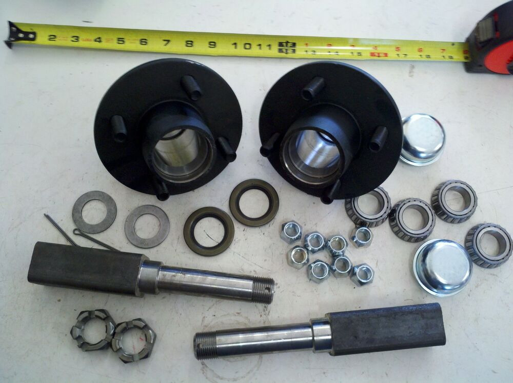 Trailer Hubs And Spindles : Trailer axle kit lbs on quot idler hubs square