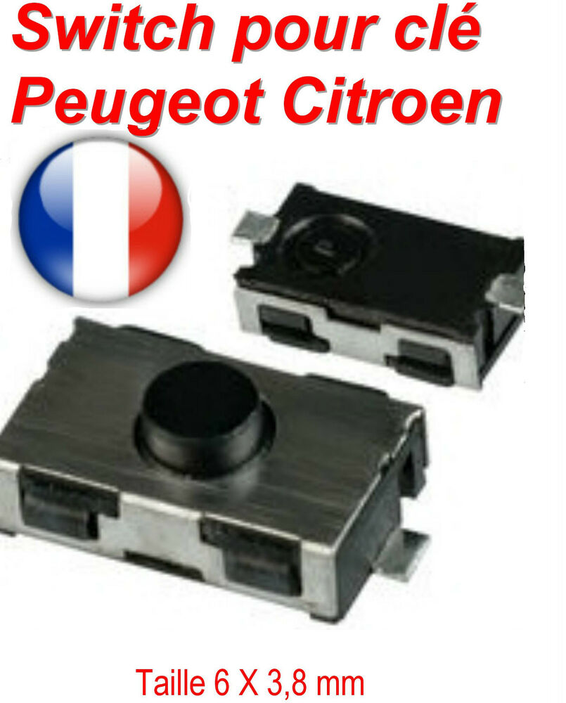 switch bouton cl t l commande plip peugeot 106 206 306 307 406 citroen c3 c5 ebay. Black Bedroom Furniture Sets. Home Design Ideas
