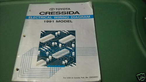 toyota cressida electrical wiring diagram service shop manual 1991 toyota cressida electrical wiring diagram service shop manual ewd oem 91