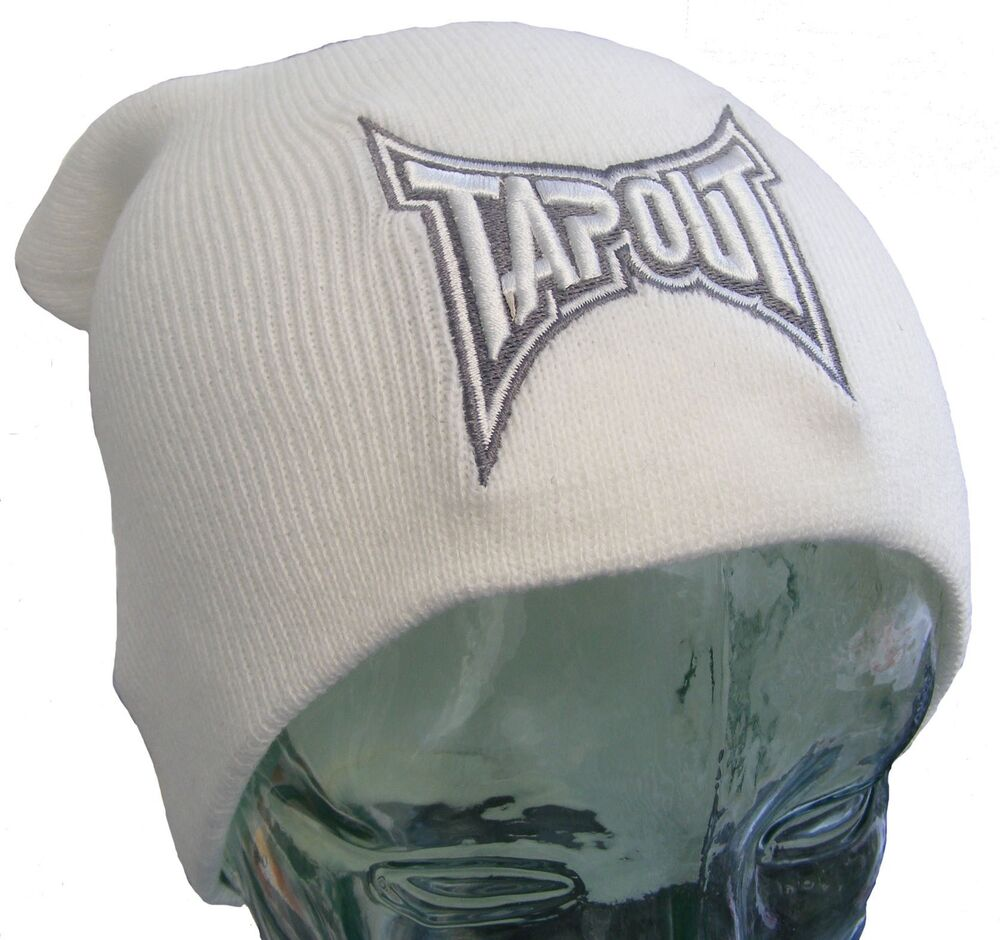 tapout white mens slouch beanie oversized man hat bnwt new