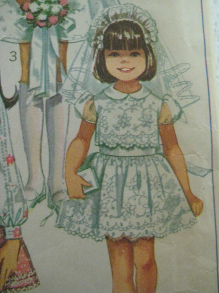 Vintage Simplicity 8171 First Communion Dress Sewing