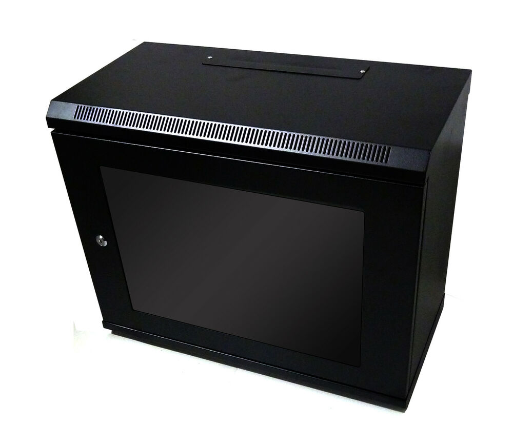 9U 300mm Black Wall Cabinet Network Data Rack For Patch
