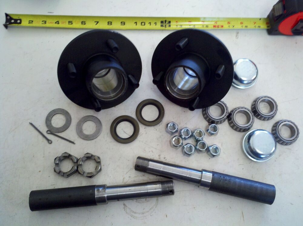 Trailer Hubs And Spindles : Trailer axle kit lbs on quot idler hubs round