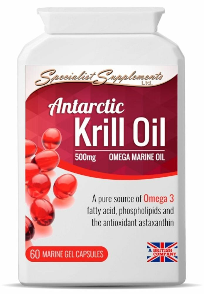 Krill oil pure superba antarctic high strength 60 x 500mg for Mega red fish oil