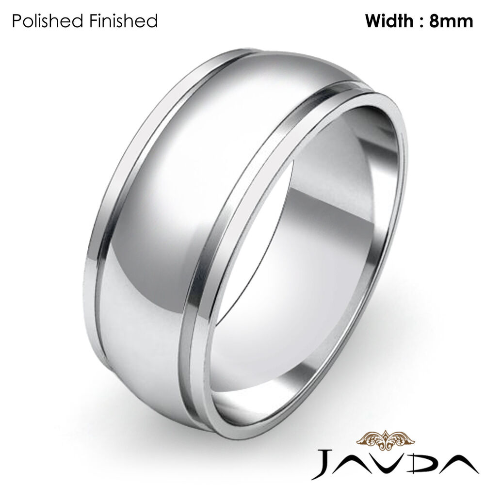 Plain Solid White Gold Ring