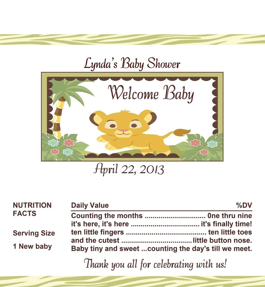 candy wrappers party favors lion king baby baby shower 1 ebay