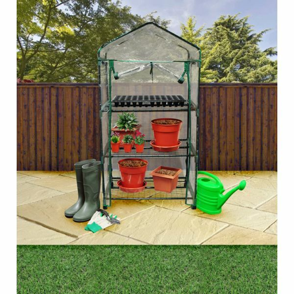 Portable Indoor Greenhouse : Tier greenhouse compact green house plastic cover indoor