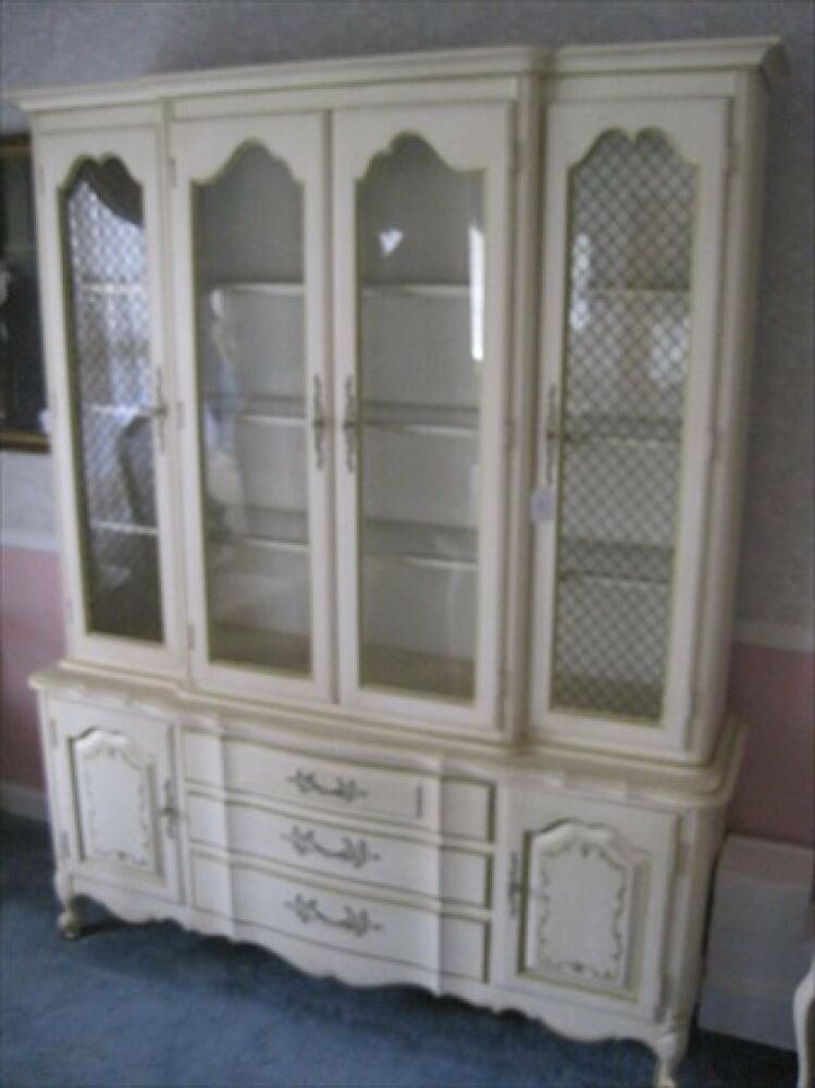 Antique White Dining Room Furniture: French Louis XV Provincial Antique White Dining Room