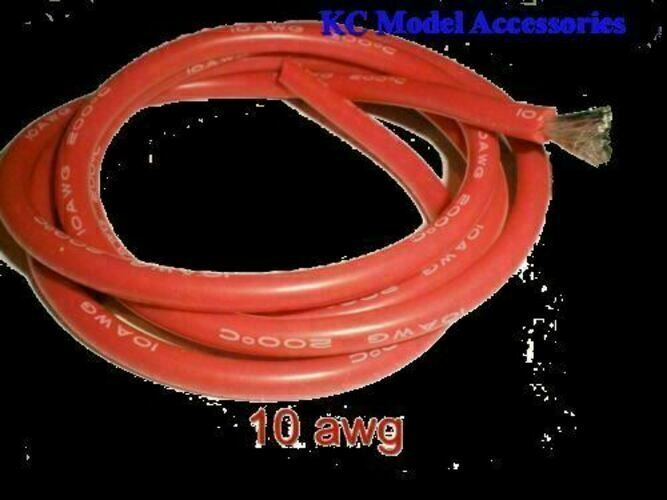 10 Awg Red Silicone Wire 1 Metre Battery Motor Cable Ebay