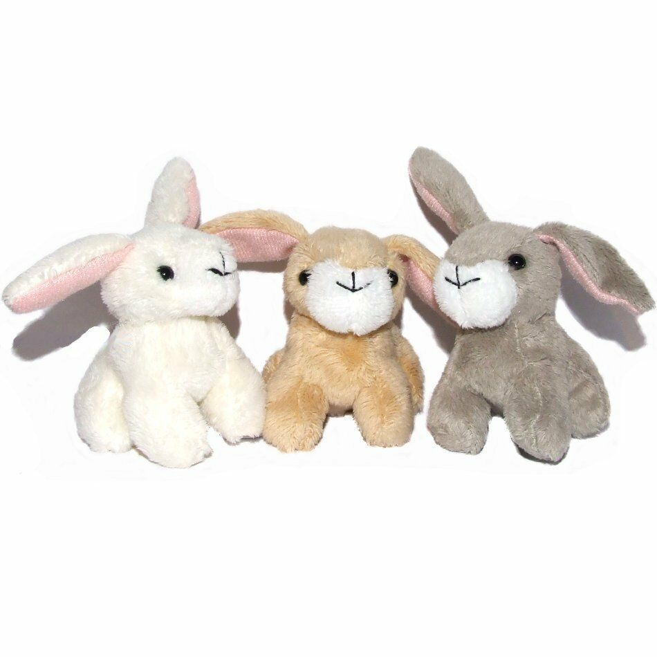 Small Toy Rabbits : Pack of small bunny rabbit soft toys spring easter