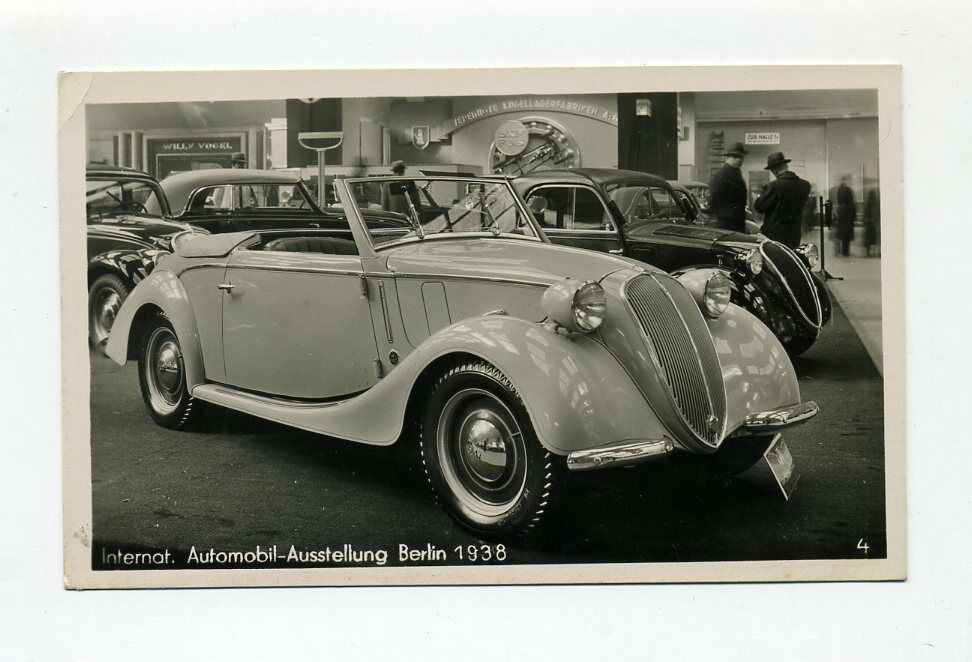 1938 3 reich photokarte iaa berlin nsu fiat cabriolet 508 c ebay. Black Bedroom Furniture Sets. Home Design Ideas