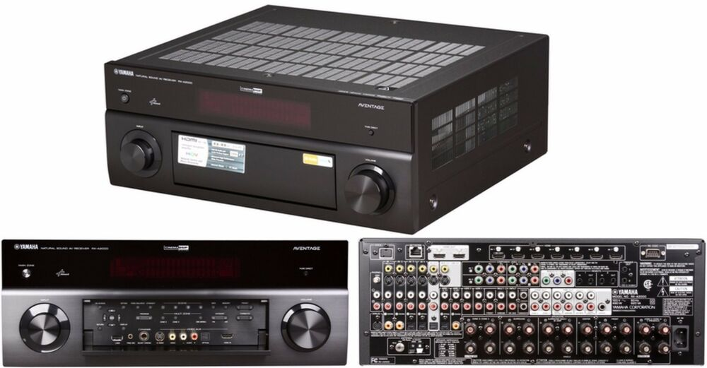 Yamaha aventage rx a2000 7 2 channel 405 watt home theater for Yamaha aventage rx a3000