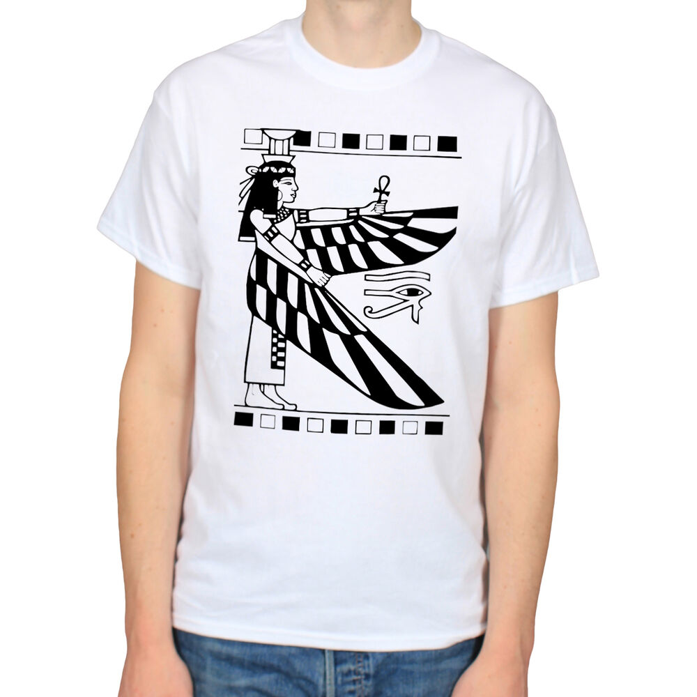 egyptian goddess isis ancient egypt empire illuminati history t shirt tee ebay. Black Bedroom Furniture Sets. Home Design Ideas