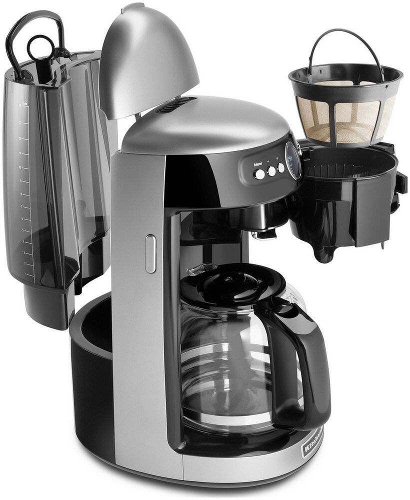 New KitchenAid Architect KCM222s Silver 14 Cup Glass Carafe Digital Coffee Maker eBay
