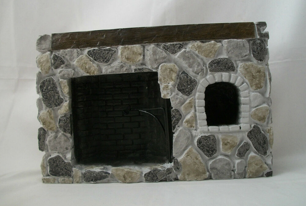 Fireplace - Walk-In Fieldstone YM0244S dollhouse miniature ...