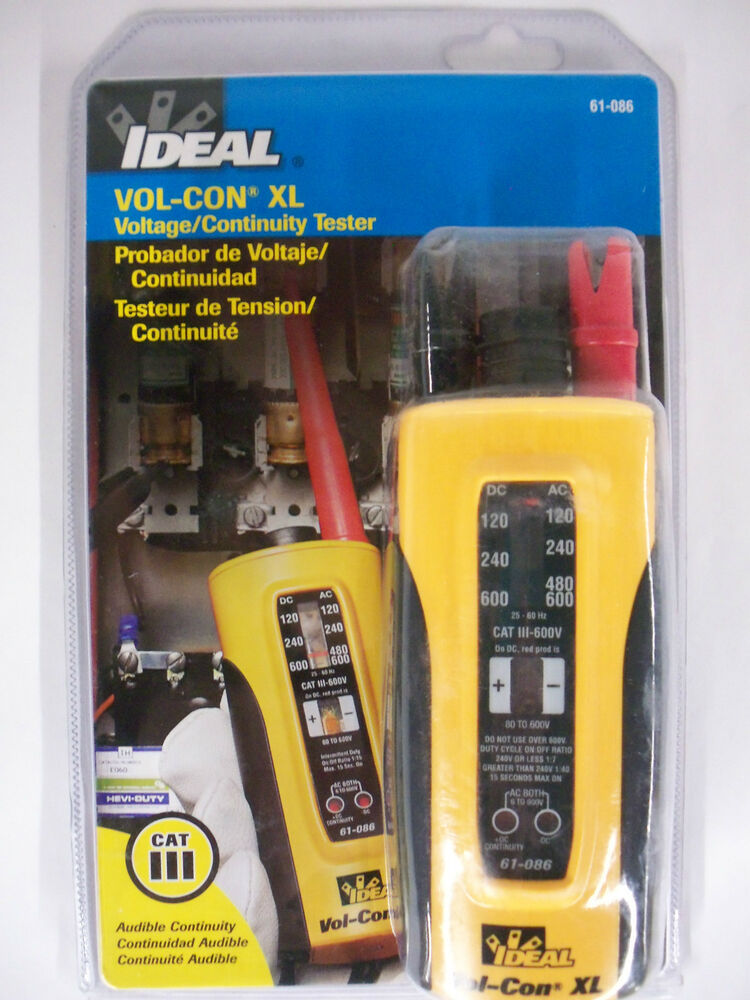 Wiggy Voltage Tester Leads : Ideal vol con xl voltage meter continuity solenoid tester