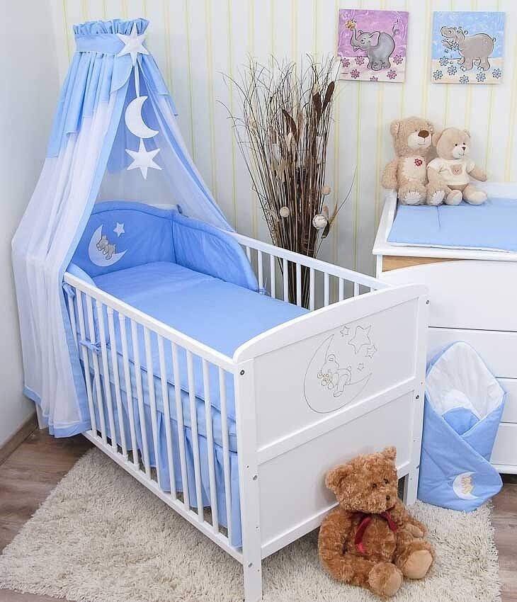 baby bettw sche himmel nestchen bettset mit applikation. Black Bedroom Furniture Sets. Home Design Ideas
