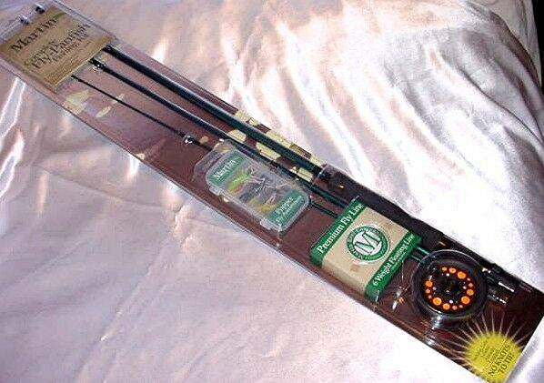 Martin trout panfish bass fly fishing kit rod reel line for Fly fishing kits