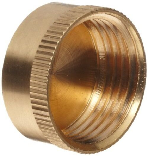female garden hose end cap with washer solid brass swan