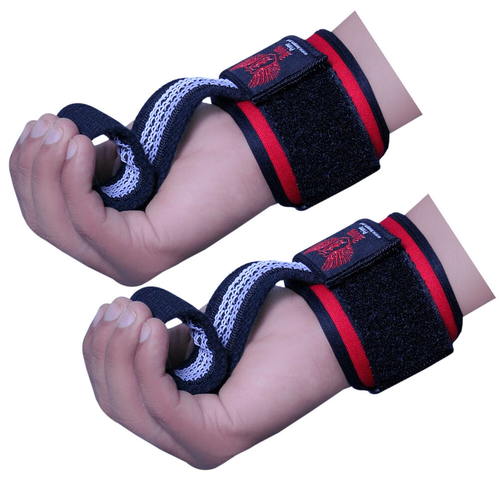 Weight Lifting Straps Gym Fitness Hand Bar Wrist Support ...