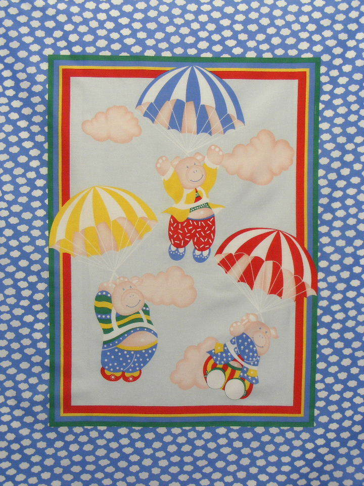 Baby Panel Cheater Quilt Top Bp26 Quot Flying Pigs Quot Quilt Sew