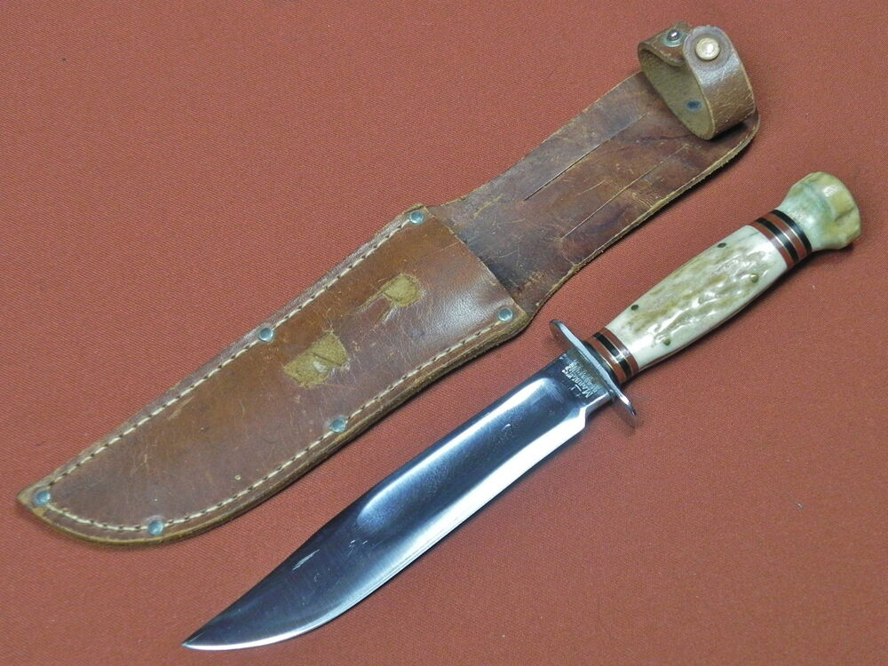 Vintage Us Marbles Gladstone Hunting Fighting Knife W