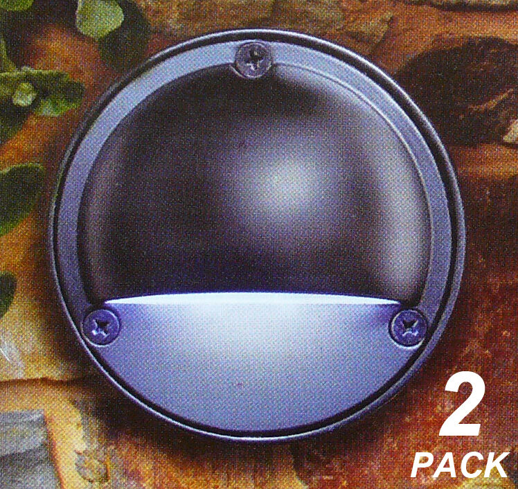 Low Voltage Wall Lights For The Garden : 2 Pack 100mm Round LED Wall Lights Black - 12V Safe Low Voltage eBay