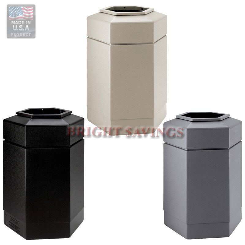 30 gallon commercial zone hex trash can indoor outdoor large waste container lid ebay. Black Bedroom Furniture Sets. Home Design Ideas