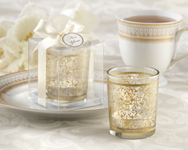 Glass Wedding Gift Box : ... Glass Tea Light Candle Holder Wedding Favor in Gift Box eBay