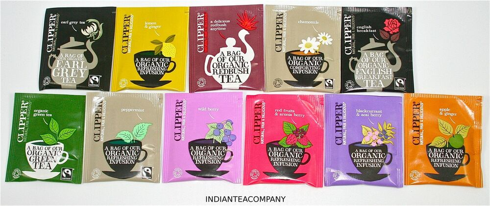 clipper tea variety pack 50 teabags 9 great flavours ebay. Black Bedroom Furniture Sets. Home Design Ideas