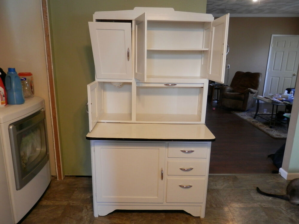 Hoosier Sellers Style Cupboard Bakers Rack Cabinet Flour