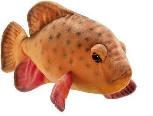 Hansa 12 tropical fish plush stuffed animal toy ebay for Fish stuffed animal
