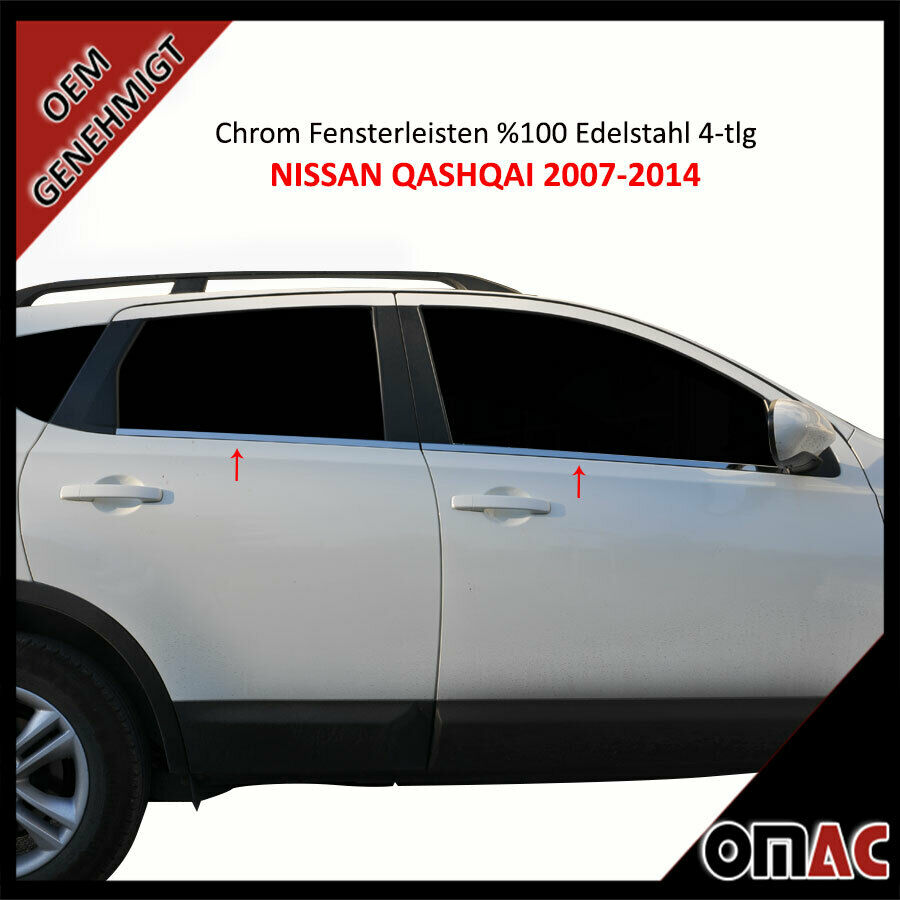 nissan qashqai j10 nj10 chrom fensterleisten 4 tlg aus. Black Bedroom Furniture Sets. Home Design Ideas