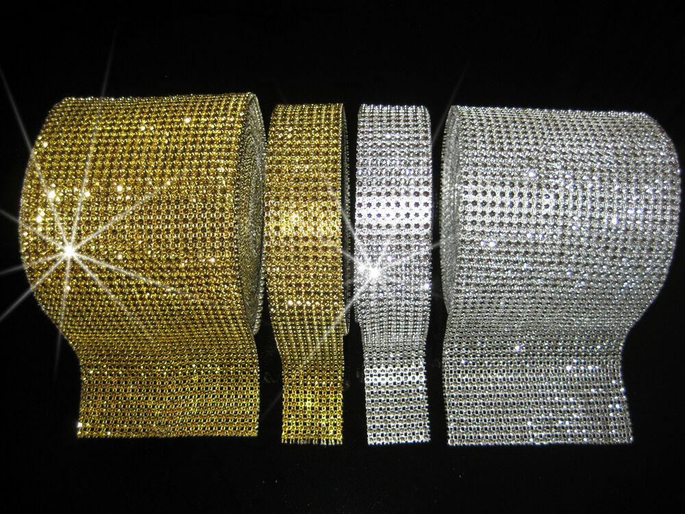 strassband strassborte dekoband glitzerband hochzeit deko silber gold chrystal ebay. Black Bedroom Furniture Sets. Home Design Ideas