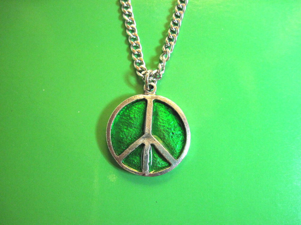 Hippie 60s 70s Peace Sign with earings Symbol Boho Costume ...