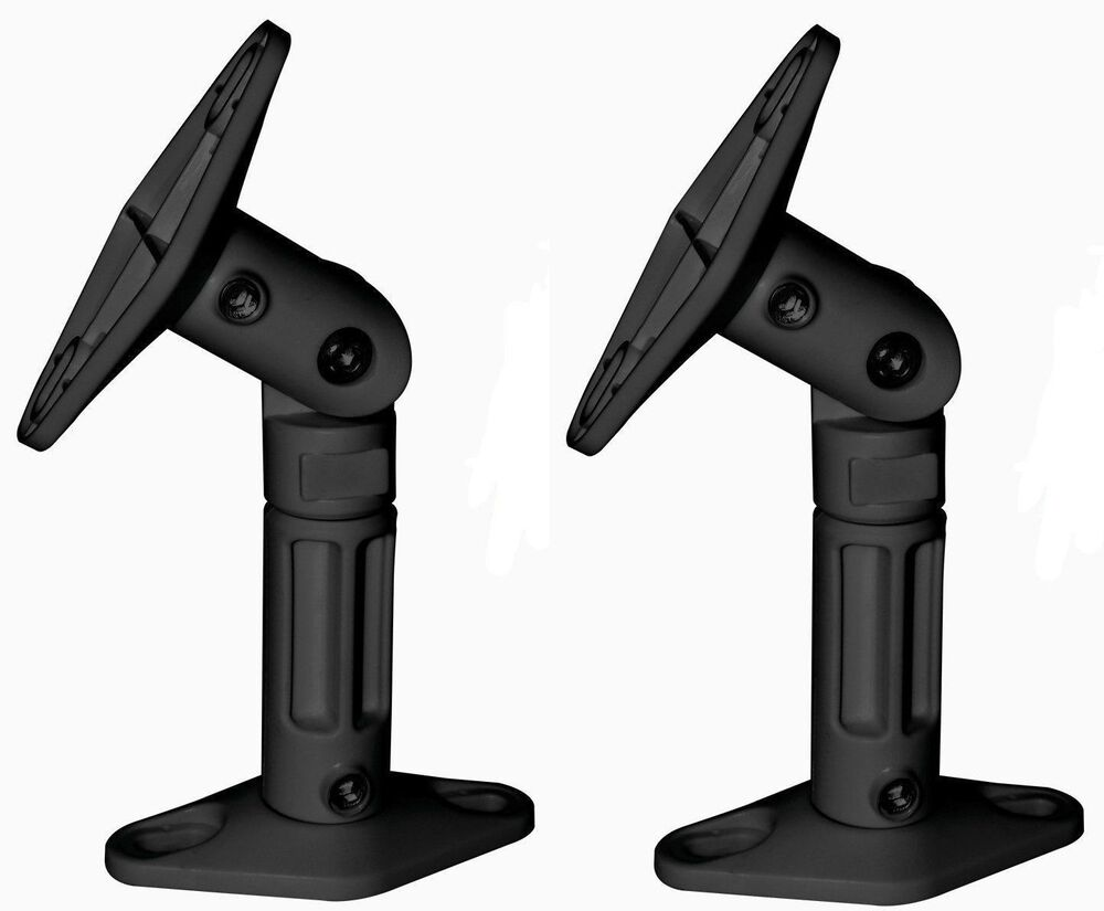 2 Pack Black Speaker Wall Ceiling Mount Brackets For Home
