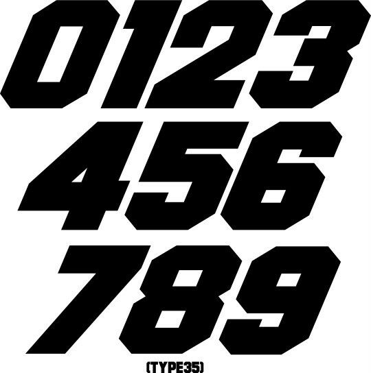 custom mx number plate decals motocross stickers. Black Bedroom Furniture Sets. Home Design Ideas