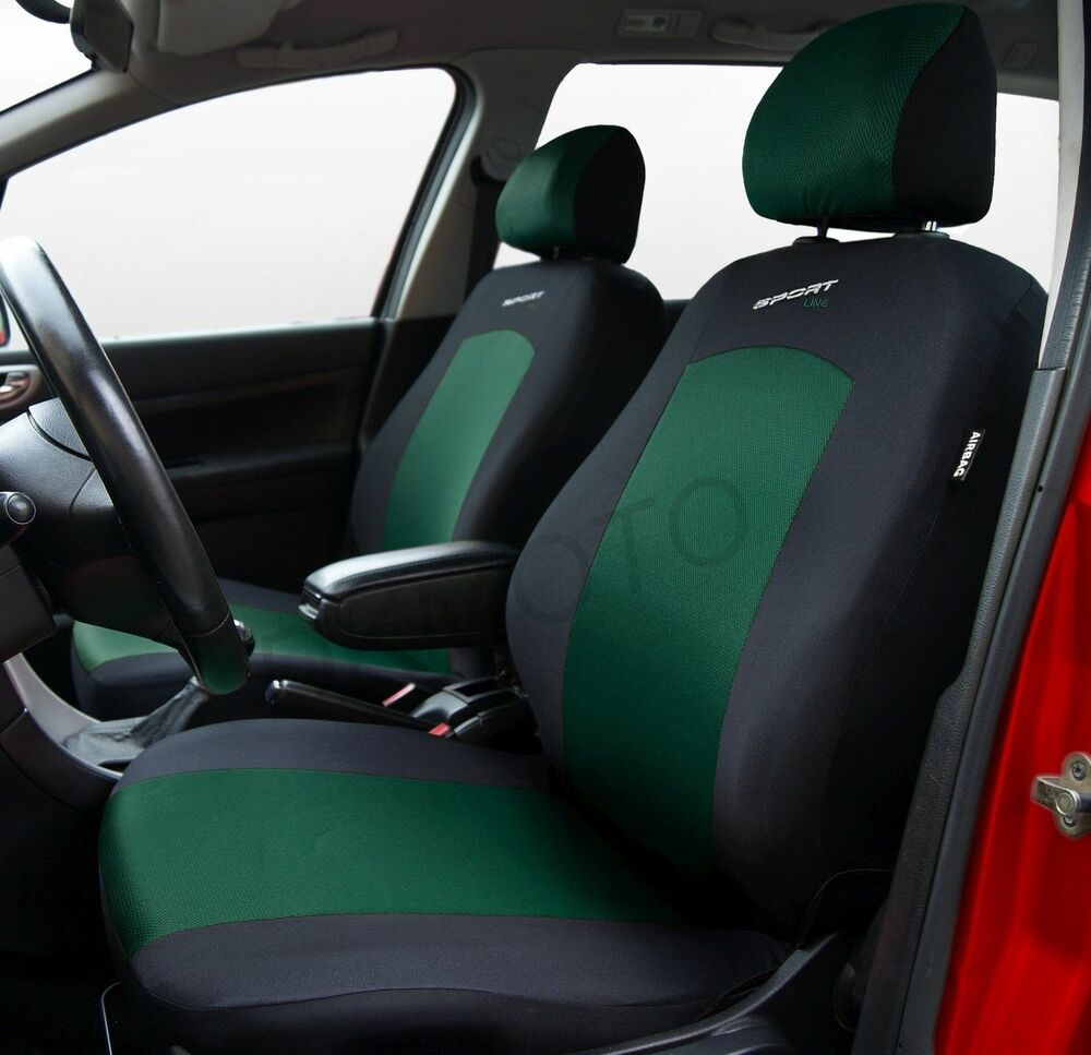 sport line car seat covers black green vw toyota ford vauxhall peugeot ebay. Black Bedroom Furniture Sets. Home Design Ideas