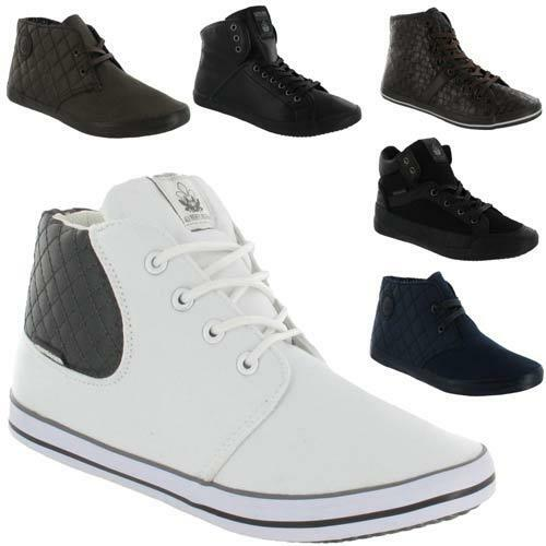 68f022f862d0 Details about MENS DESIGNER HI TOPS TRAINERS NEW BOYS HIGH ANKLE FLAT  CANVAS PUMPS BOOTS SHOES