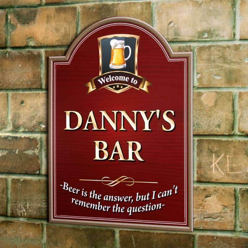 Beer Is The Answer Sign Personalised Pub Sign Wooden