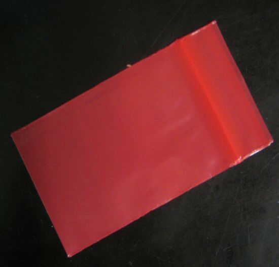 100 Red Color 4 Quot X 6 Quot Colored Poly Plastic Ziplock