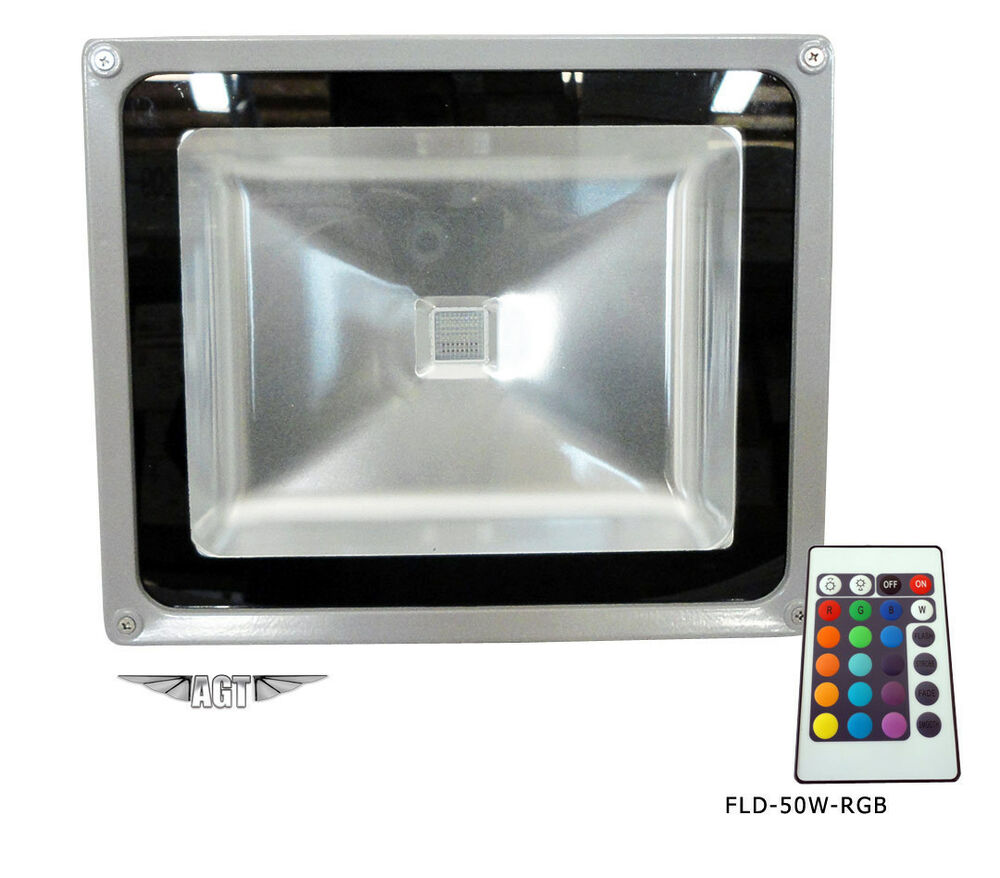 50W LED RGB Color Change Flood Outdoor Light Lamp Remote