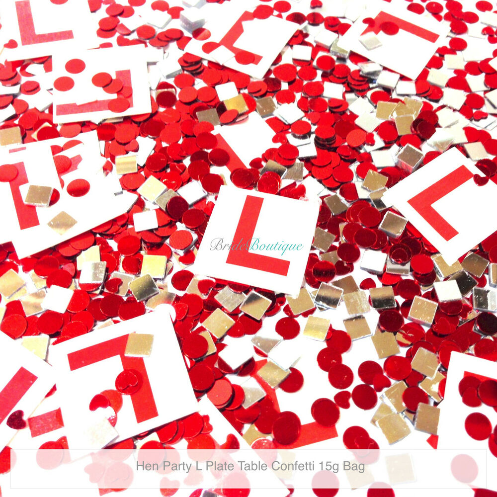 Hen Night Party Do Accessories Decorations Table Confetti