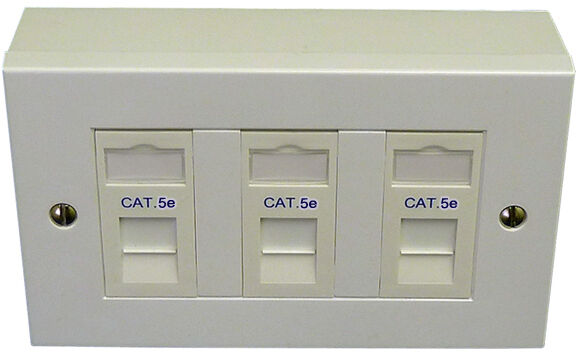rj45 faceplate plugs jacks wall plates 3 way cat5e triple rj45 data outlet faceplate modules backbox network ethernet