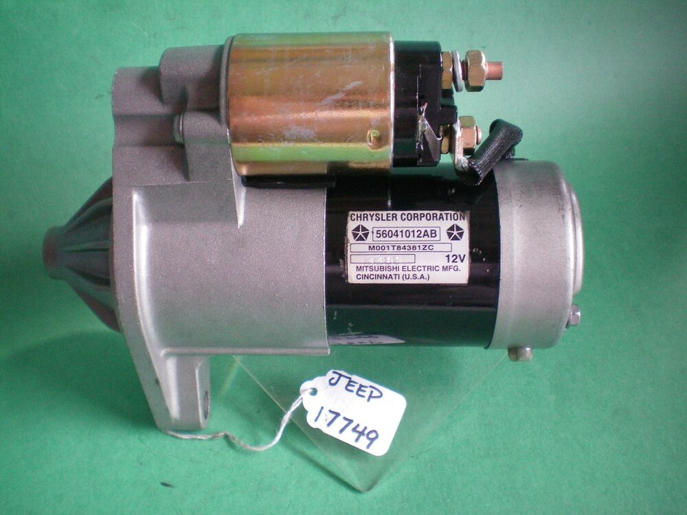 jeep grand cherokee 1999 to 2002 l6 4 0l engine starter motor ebay. Black Bedroom Furniture Sets. Home Design Ideas